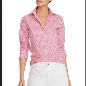 Ralph Lauren gingham button down shirt S/P